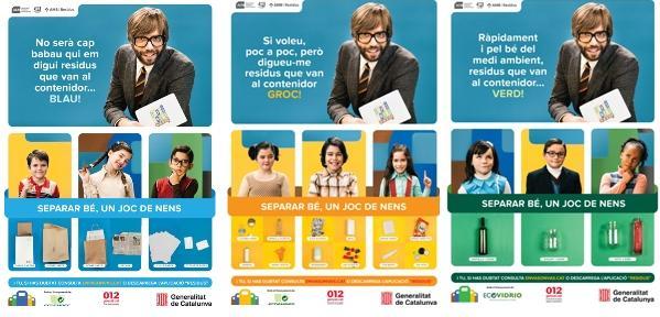 Nueva campaña para fomentar la correcta separación en origen de los residuos en Cataluña
