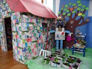 Obra ganadora del concurso de reciclaje y reutilización de envases de tetrabrik