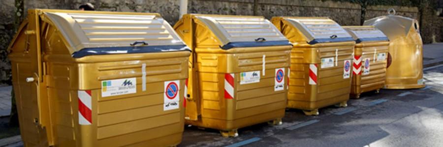 Contenedores 'de oro' para los barrios de Irún y Hondarribia que más reciclen