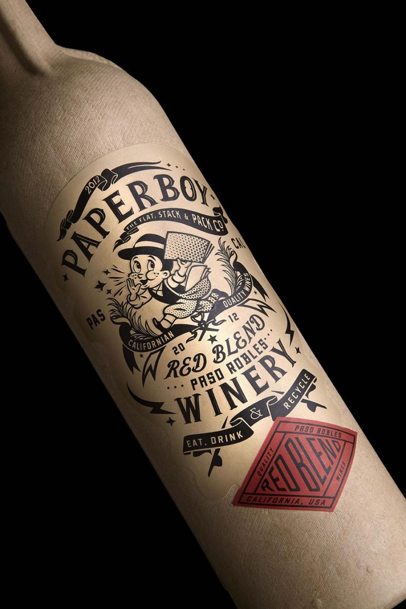 Paperboy, la botella de vino hecha con papel reciclado