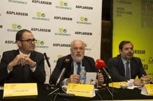 Miguel Arias Cañete en la jornada de ASPLARSEM