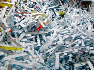 las trituradoras de papel impiden su reciclaje