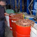 La Policía Nacional se incauta de 96 toneladas de metales robados en plantas de residuos
