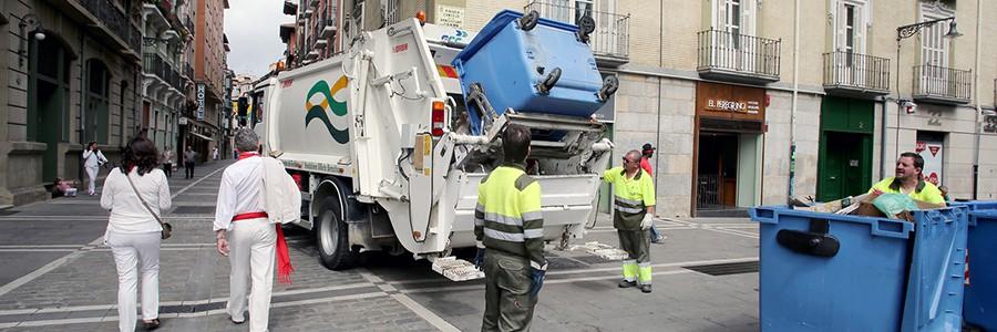 Los Sanfermines generaron 600 toneladas de residuos