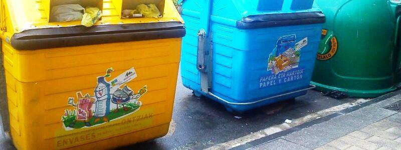 El reciclaje de envases en el País Vasco supera las 70.000 toneladas