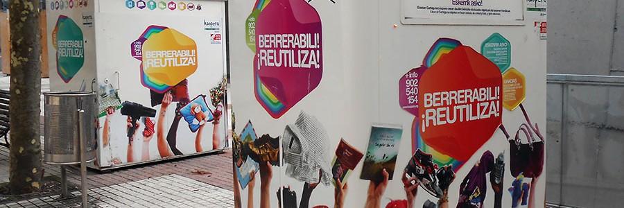 El contenedor de la reutilización llega a las localidades vizcaínas de Otxandio y Zierbena