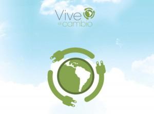 """imagen de la campaña de reciclaje de Sony """"Vive el cambio"""""""