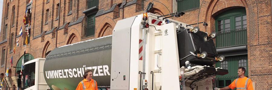 Conducción económica y transmisiones automáticas aumentan la eficiencia de los vehículos de limpieza y recogida de residuos en Hamburgo