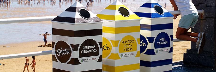 Cada gijonés recicló más de 100 kg de residuos en 2015