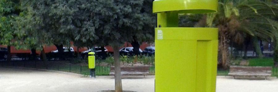 Papeleras de bioplástico en Valencia