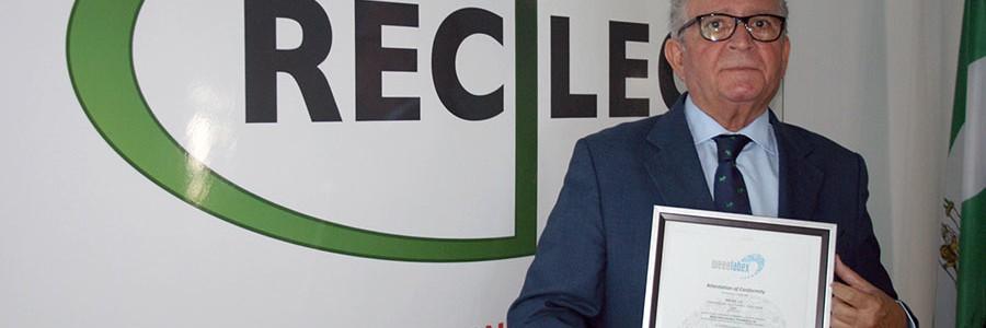 RECILEC, segunda empresa europea en recibir el certificado WEEE-Labex por la gestión de residuos electrónicos
