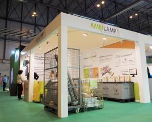 AMBILAMP mostró a los visitantes los diferentes tipos de contenedores para el reciclaje de lámparas