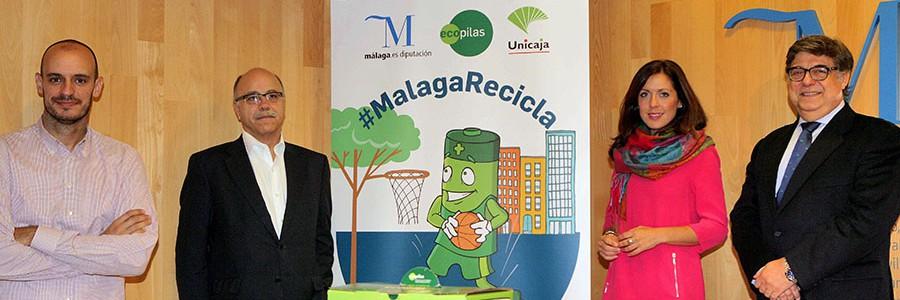 Ecopilas, Unicaja Baloncesto y Diputación de Málaga colaboran en una nueva campaña de reciclaje de pilas