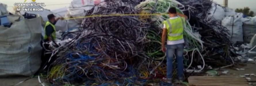 Operaciones CUPRUTEL y ENTERA: intervenida la mayor partida de cable de cobre robado