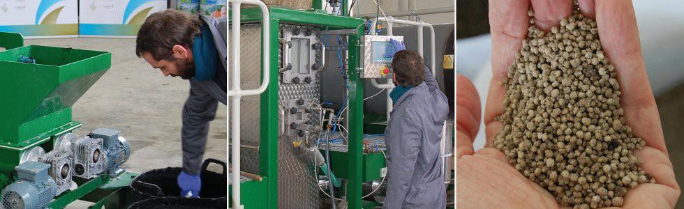 Planta de transformación de residuos orgánicos en fertilizantes de alta calidad