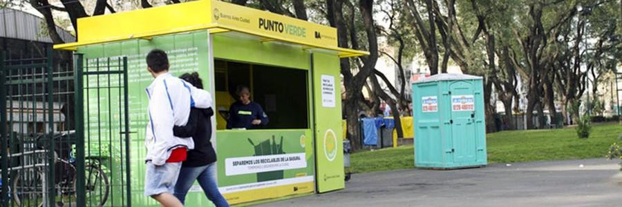 Buenos Aires recupera 300.000 kg de residuos en los puntos verdes urbanos