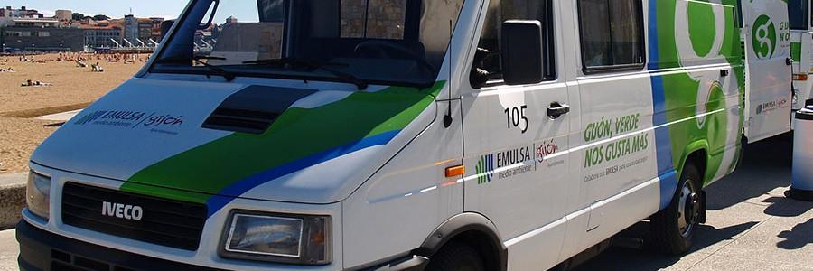 Gijón recicla el agua procedente del lavado de los vehículos de recogida de residuos y aseo urbano
