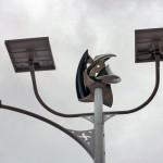 Primer sistema de alumbrado público que combina energía solar y eólica