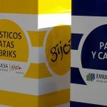 Papeleras de reciclaje en las zonas de juego de los parques de Gijón