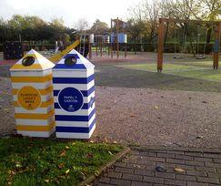 Gijón instala papeleras de reciclaje en tres parques de la ciudad