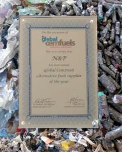 N+P ha recibido el galardón por su actividad en el campo de los combustibles derivados de residuos