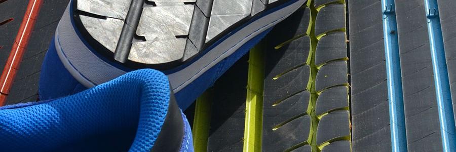 Una empresa guipuzcoana convierte neumáticos usados en suelas de zapatos
