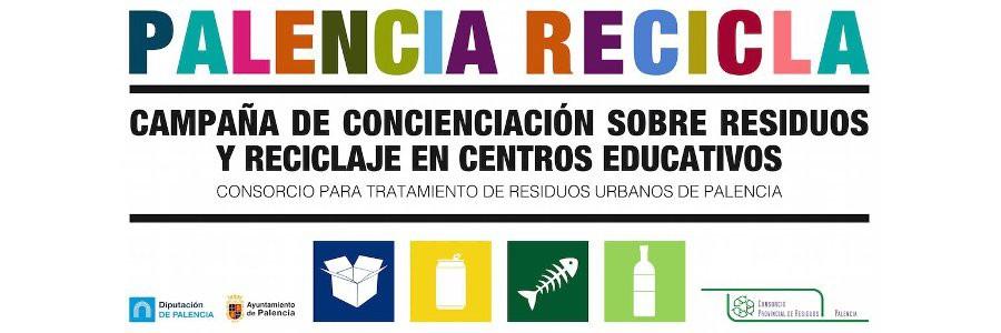 Campaña de concienciación sobre residuos y reciclaje en centros educativos de Palencia