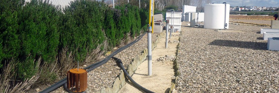 Piedras y escombros para depurar aguas residuales