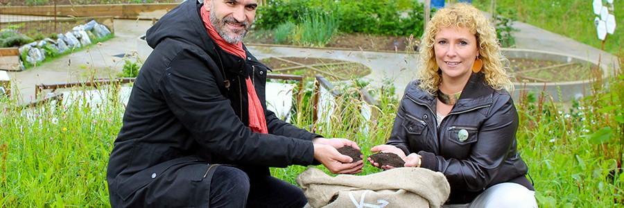 Compost de residuos para fertilizar cultivos ecológicos en Gipuzkoa