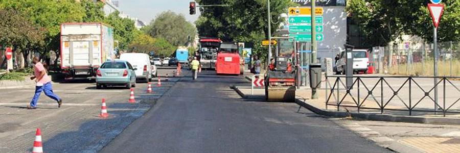 3.000 toneladas de asfalto reciclado para renovar una calle de Madrid