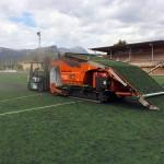 Los campos de césped artificial también se reciclan
