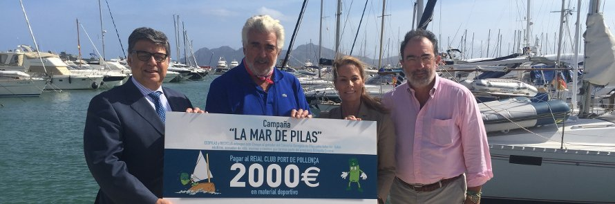 Ecopilas recoge más de 1.000 kilos de pilas en clubs náuticos y escuelas de vela