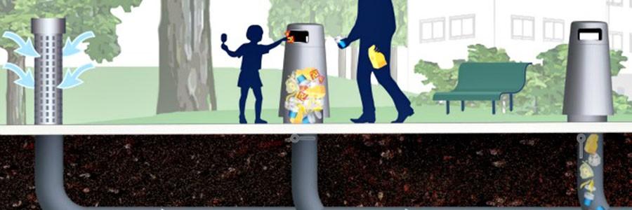 Barcelona instala sus primeras papeleras con recogida neumática