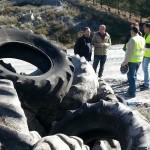 Retiran 485 toneladas de neumáticos abandonados en Vélez-Rubio (Almería) para su reutilización y reciclaje