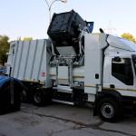El camión eléctrico de recogida de residuos de FCC, listo para su circulación y uso
