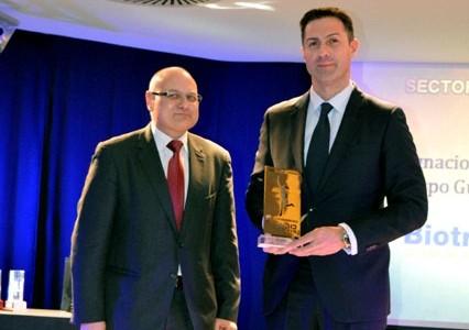 Ignacio Crespo, director general de Biotran, recibe el Premio de Empresario del Año en Castilla y León