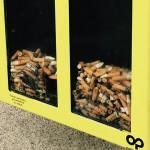 Ceniceros transparentes para concienciar a los madrileños sobre el problema de las colillas