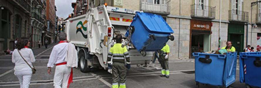 El Casco Antiguo de Pamplona contará por primera vez con recogida separada de residuos en Sanfermines