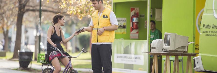 Campaña de recepción de aparatos eléctricos y electrónicos en desuso en Buenos Aires