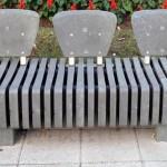 Cápsulas de café recicladas y aprovechadas para fabricar mobiliario urbano