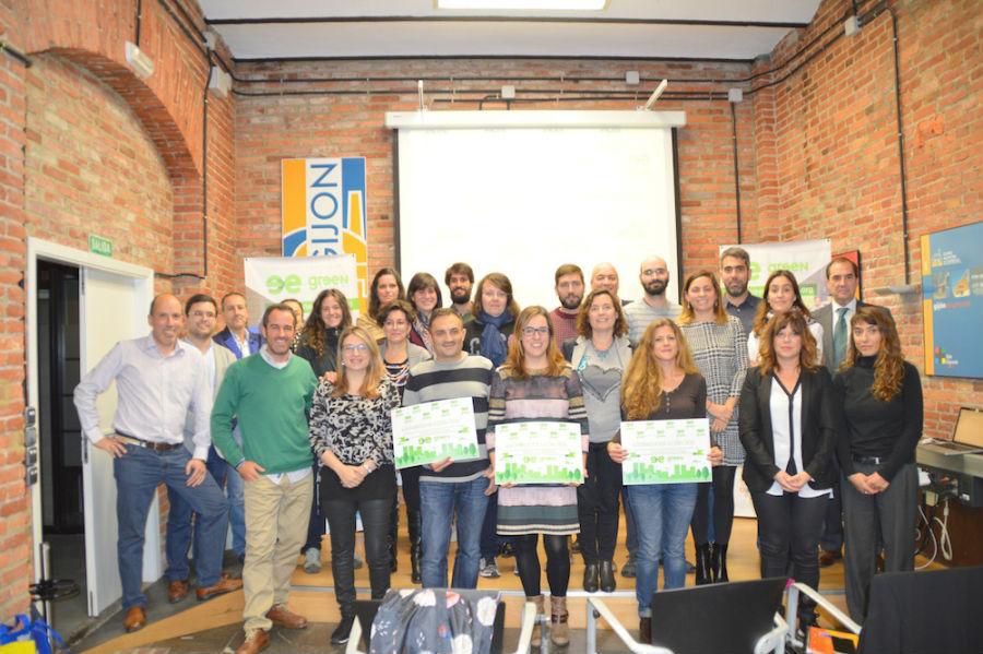 Emprendedores y ganadores de la I edición de la Greenweekend Gijón. Fotografía: Greenweekend.org