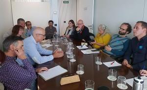 reunión de organizaciones sociales con la Generalitat Valenciana para hablar de la venta de bebidas con depósito