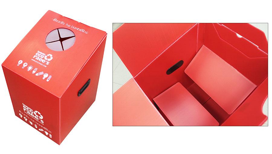 Tecnicarton diseña un contenedor para reciclar bombillas fácilmente sin que se rompan