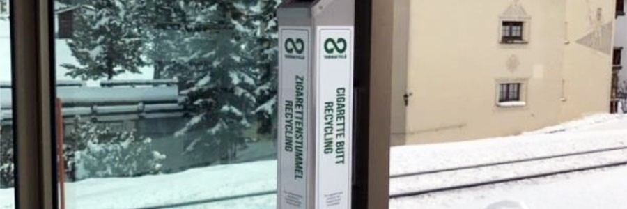 La ciudad suiza de Davos comienza a reciclar las colillas de cigarrillos