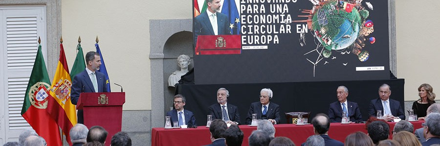 """El Rey afirma que """"la innovación juega un papel clave en la transición a la economía circular"""""""