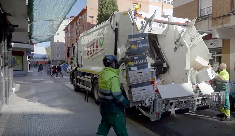 Recogida puerta a puerta de residuos comerciales en Getxo