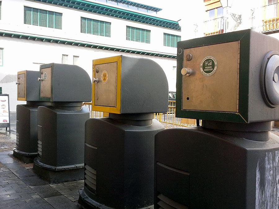 Contenedores de recogida neumática de residuos. Foto: RESIDUOS PROFESIONAL