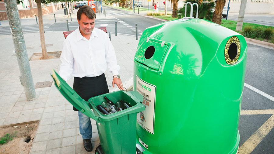 El reciclaje de vidrio en España creció un 4% en 2016