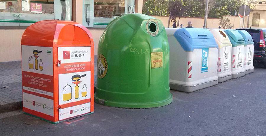 Huesca recuperó más de 2.500 litros de aceite usado en los dos primeros meses del año