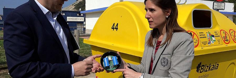 Bizkaia prueba los contenedores de reciclaje con sensores